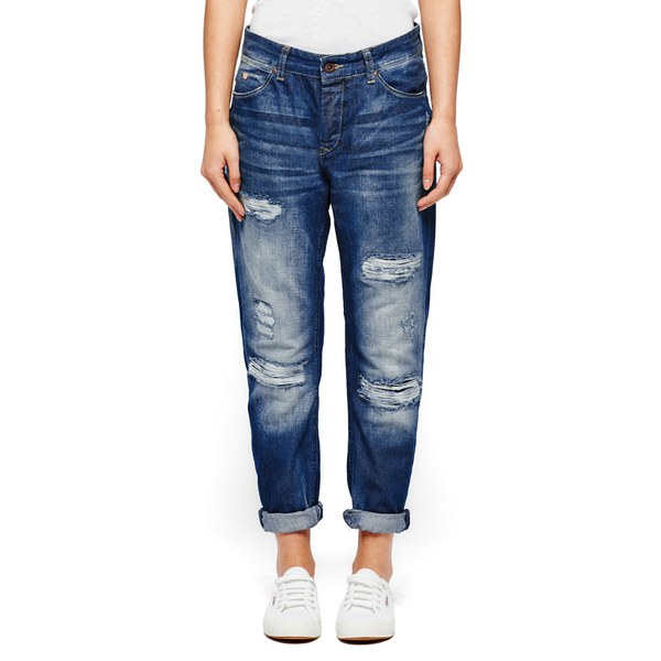 Maison Scotch Women's L'Adorable Distressed Sky Boyfriend Jeans ...