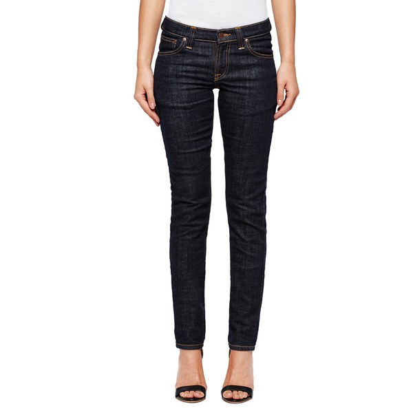 Nudie Jeans Women's Long John Skinny Jeans - Twill Risned