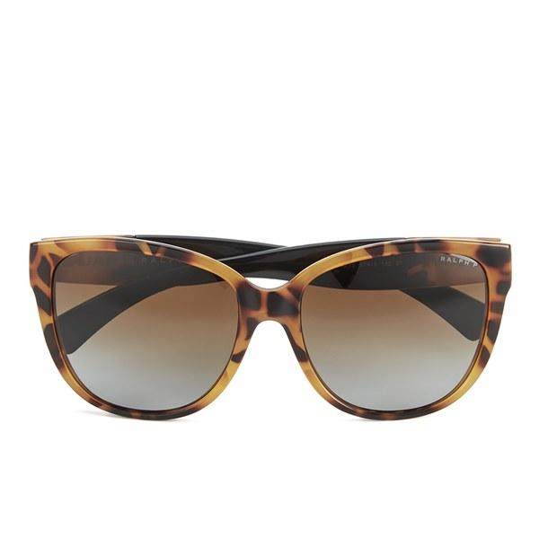 b2d8322aae Polo Ralph Lauren D-Shape Women s Sunglasses - Dark Tortoise  Image 1