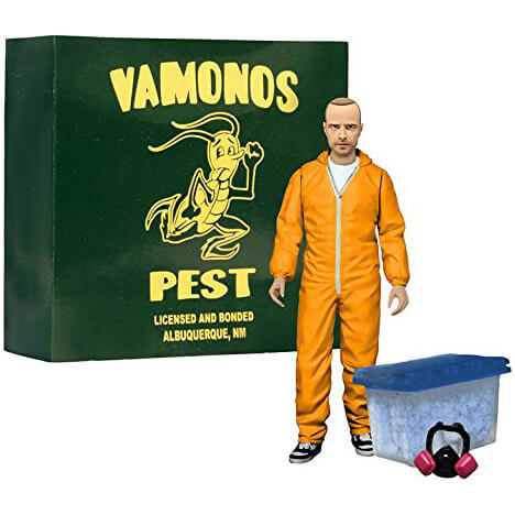 Breaking Bad Jessee Pinkman Orange Hazmat Suit EE Exclusive 6 Inch Action Figure