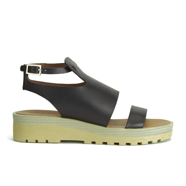 See By Chloé Women's Leather Flat Sandals - Black