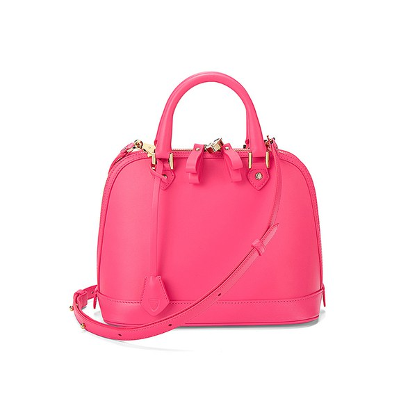 Aspinal of London Hepburn Mini Tote Bag - Smooth Neon Pink