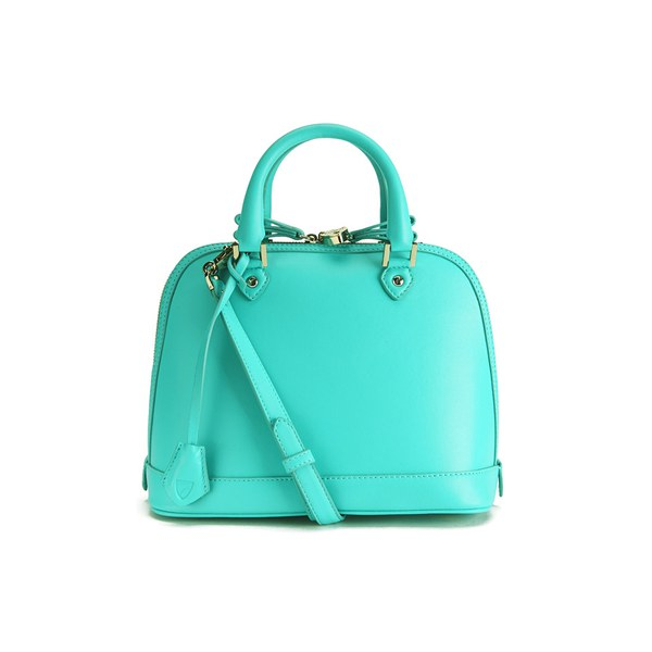 Aspinal of London Hepburn Mini Tote Bag - Aqua Nappa