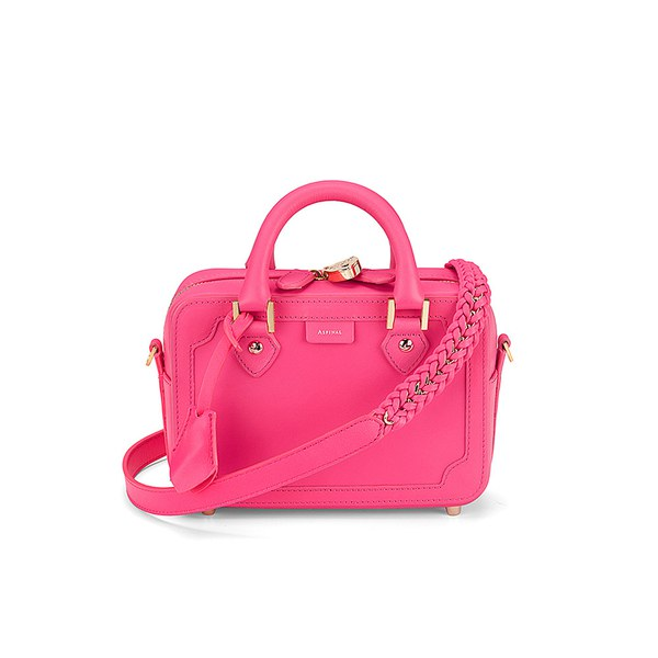 Aspinal of London Sofia Mini Tote Bag - Smooth Neon Pink