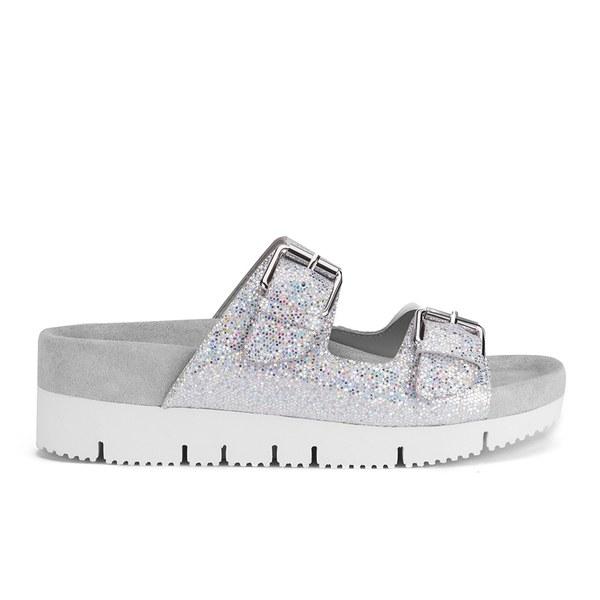 Ash Women's Takoon Double Strap Suede Sandals - Light Silver