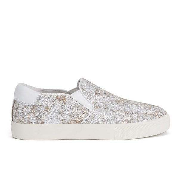 Ash Women's Impuls Leather Skater Trainers - White/Nude