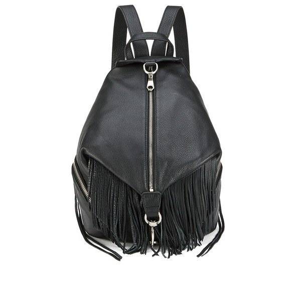 Rebecca Minkoff Women's Julian Backpack - Black/Silver Hardware