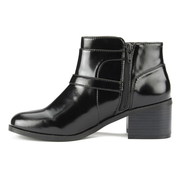 ravel s maine patent leather ankle boots black
