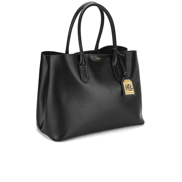Lauren Ralph Women S Tate City Tote Bag Black Image 4
