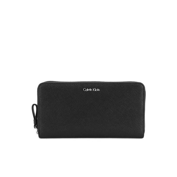 Calvin Klein Women S Sofie Large Zip Around Purse Black Image 1