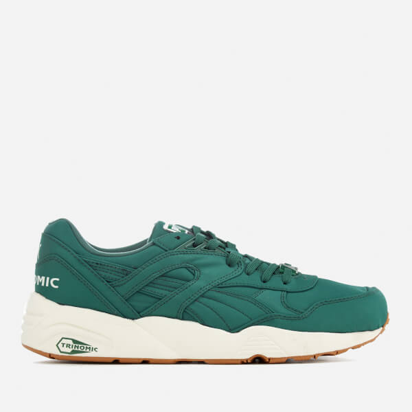 Puma Men's R698 Nylon Trainers - Green/White