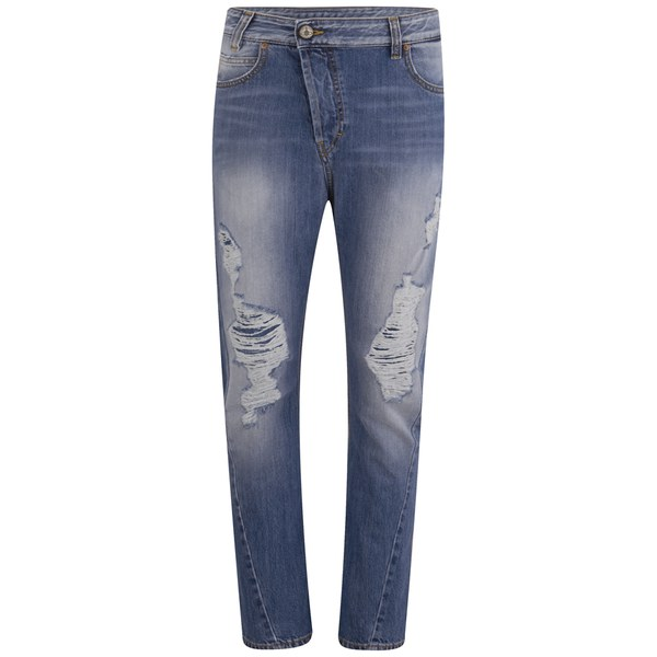 Vivienne Westwood Anglomania Women's New Boyfriend Jeans - Stonewashed Distressed