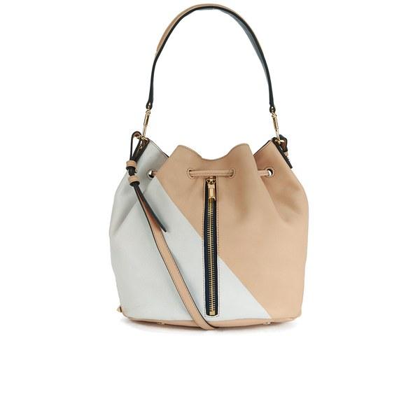 Elizabeth and James Cynnie Bucket Bag - Pale Pink/White/Navy