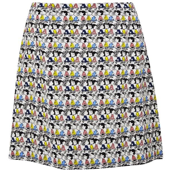 Peter Jensen Women's A-Line Skirt - Girls Stripe