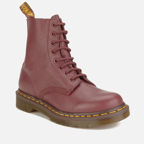 Dr. Martens Women's Pascal Virginia Leather 8-Eye Lace Up Boots - Cherry Red - UK 3 mFCm5ttq