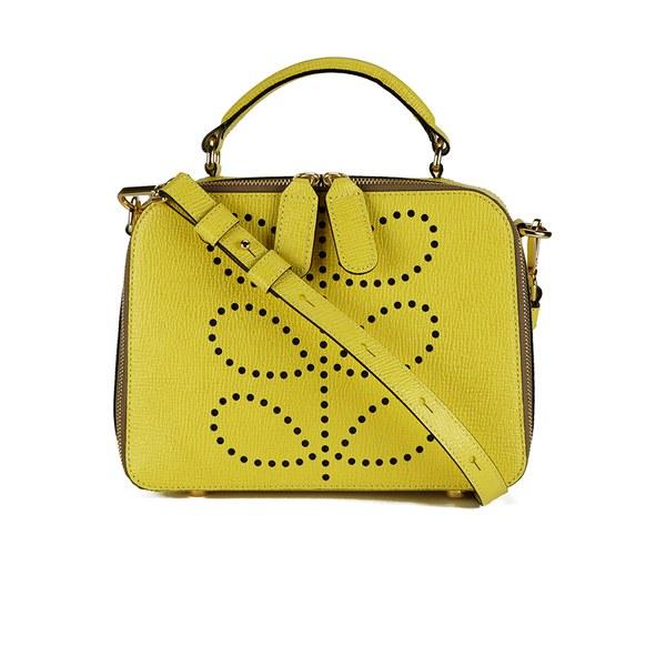 Orla Kiely Women S Mini Bay Textured Leather Cross Body Bag Lemon Image 1