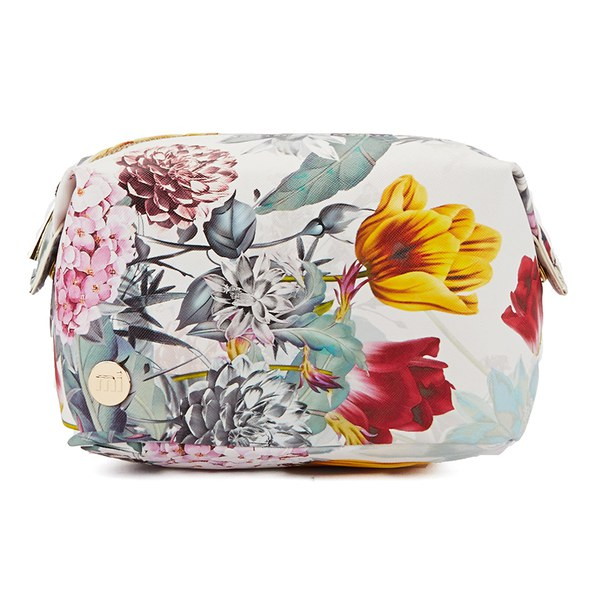 b9a4fe7653 Mi-Pac Bloom Make Up Bag - Multi White  Image 1