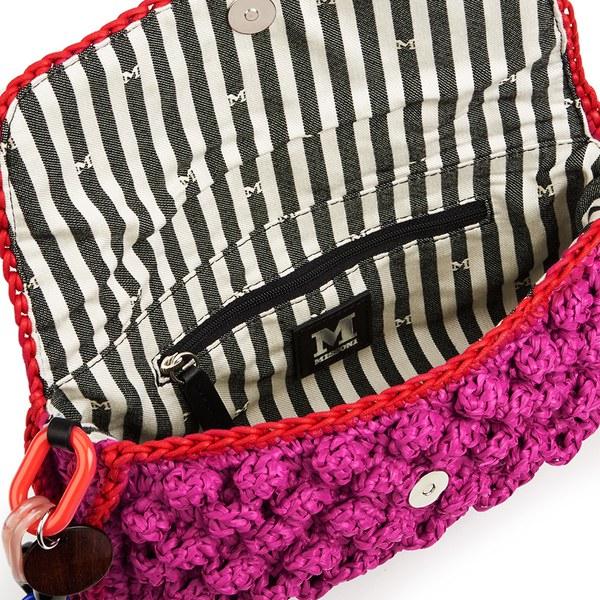 1be62011bd7f M Missoni Women s Raffia Shoulder Bag - Pink  Image 4