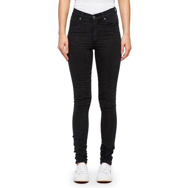 Cheap Monday Women's Second Skin High Waisted Skinny Jeans - Very Stretch Black
