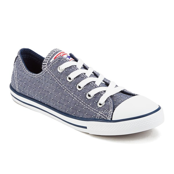 Converse Women s Chuck Taylor All Star Dainty Chambray Canvas Trainers -  Navy  Image 4 90a791159