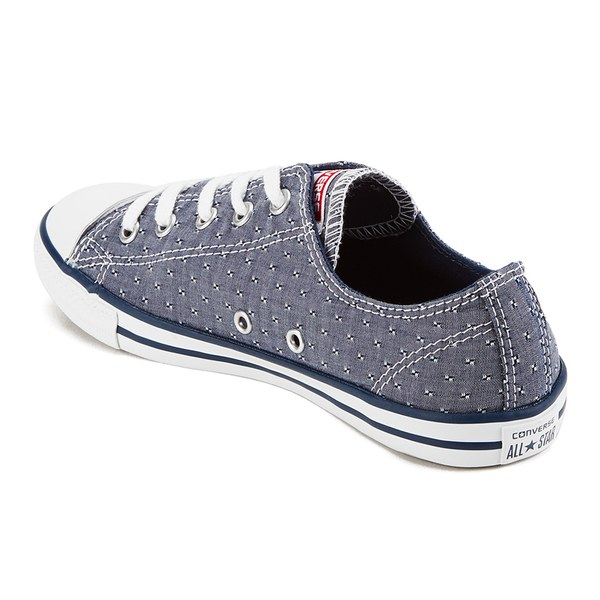 Converse Women s Chuck Taylor All Star Dainty Chambray Canvas Trainers -  Navy  Image 5 71a5adde7