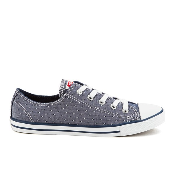 Converse Women s Chuck Taylor All Star Dainty Chambray Canvas Trainers -  Navy  Image 1 55118b42c
