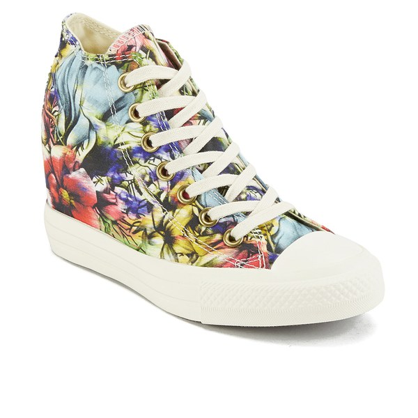 Converse Women's Chuck Taylor All Star Lux Floral Print Wedge HiTop Canvas  Trainers