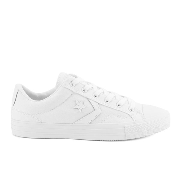 ea9a7a109c72c4 Converse CONS Men s Star Player Mono Canvas Trainers - White Monochrome   Image 1