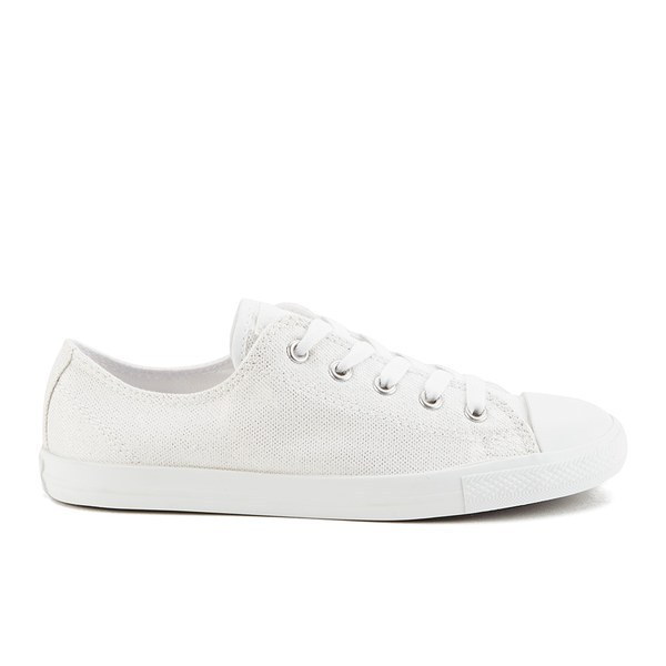 Converse Women's Chuck Taylor All Star Dainty Sheer Summer Shimmer Trainers - White/Powder