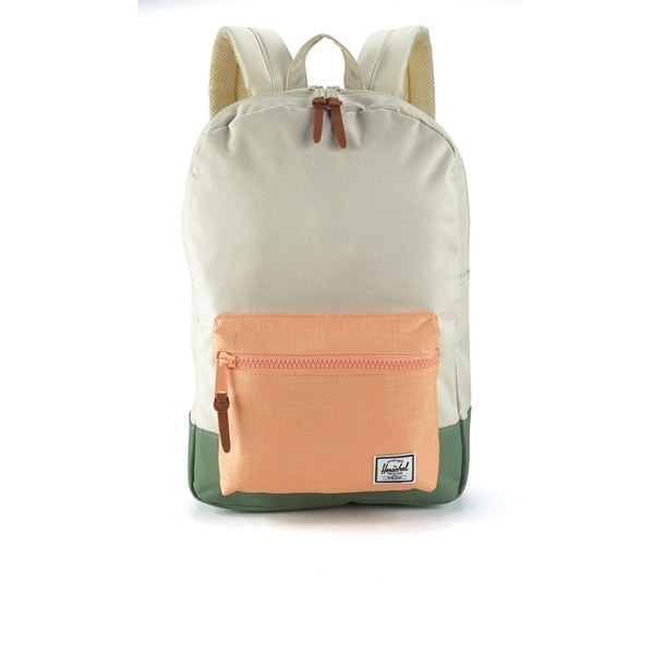 Herschel Supply Co. Women's Settlement Mid Volume Backpack - Natural/Mango/Crosshatch/Foliage/Mango Rubber