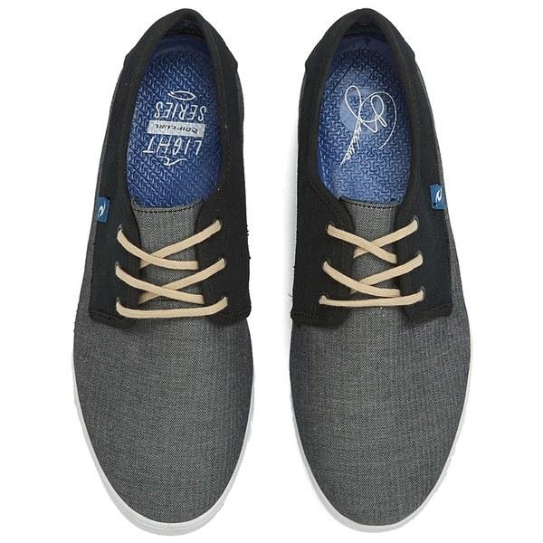 Rip Curl Men S San Seb Canvas Leisure Shoes Grey Black Image 2