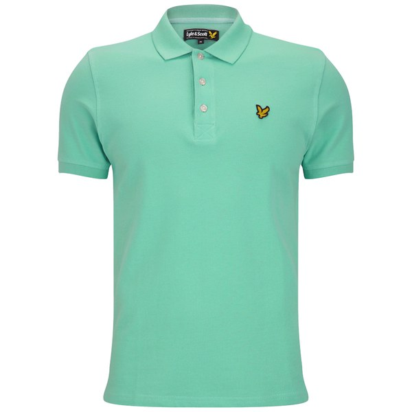 Lyle & Scott Men's Plain Pique Polo Shirt - Vert Green: Image 1