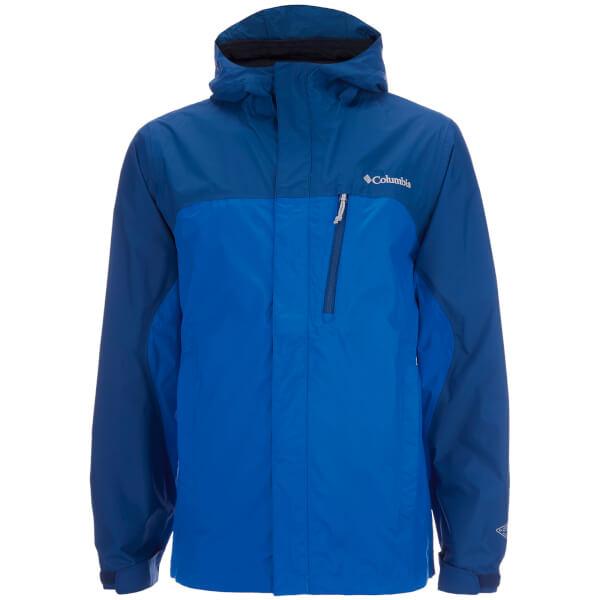 Columbia Menu0026#39;s Pouring Adventure Waterproof Jacket - Hyper Blue/Marine Blue Sports U0026 Leisure ...
