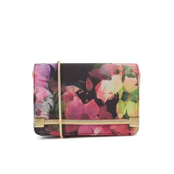100e9804b9ac Ted Baker Women s Haily Cascading Floral Cross Body Grab Bag - Black  Image  1