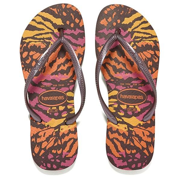 a1e5e9467f0c9 Havaianas Women s Slim Animals Flip Flops - Aubergine Womens ...