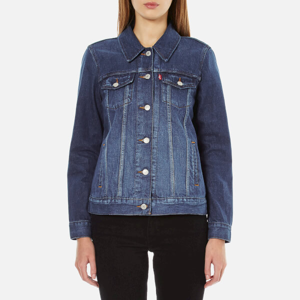 Levi's Women's Boyfriend Trucker Jacket - Dark Fog