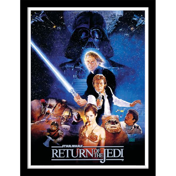 Star Wars Return of the Jedi One Sheet - Framed 30x40cm Print