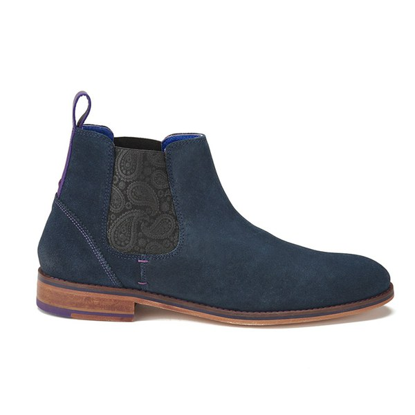 f893dc395 Ted Baker Men s Camroon 2 Suede Chelsea Boots - Dark Blue  Image 1