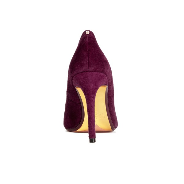6dfa1a836225 Ted Baker Women s Neevo 4 Suede Pointed Court Shoes - Dark Purple  Image 3