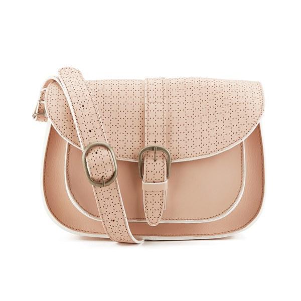 Maison Scotch Women's Perforated Satchel Bag - Blush