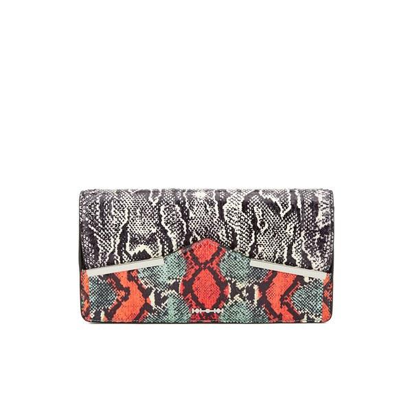 McQ Alexander McQueen Poppy Clutch Bag - Elaphe Mix