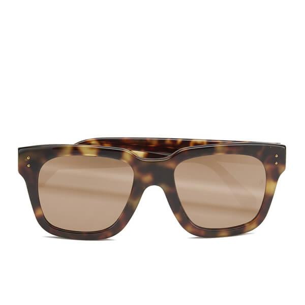 803ee0d85af Linda Farrow Women s Sunglasses with Rose Gold Lens - Tortoise Shell  Image  1