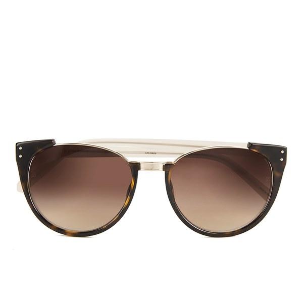 Linda Farrow Sunglasses with Brown Lens - Tortoise Shell