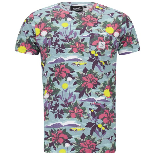 wesc men 39 s sarek hawaii printed t shirt multi clothing