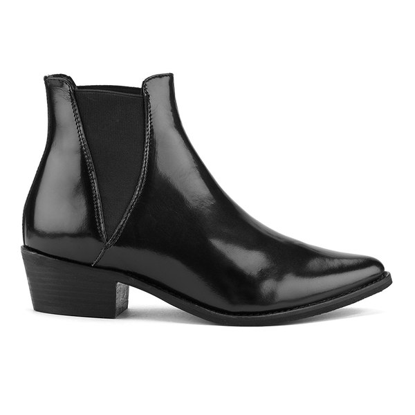 Steve Madden Women's Anyml Pointed Leather Chelsea Boots - Black