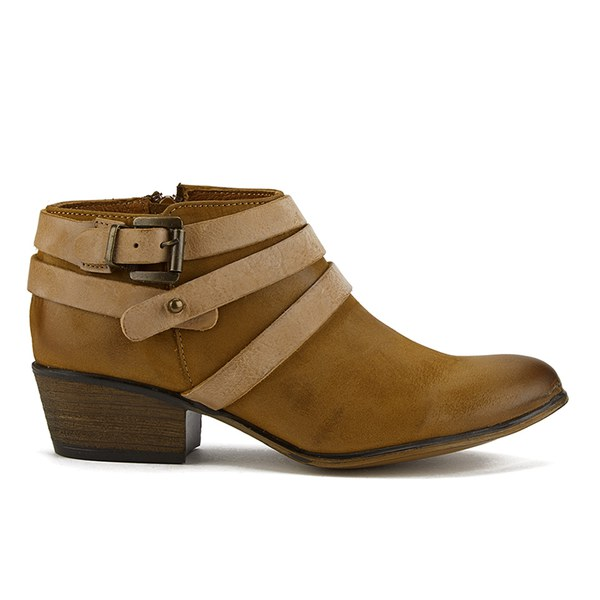 Steve Madden Women's Regennt Multi Strap Leather Ankle Boots - Brown