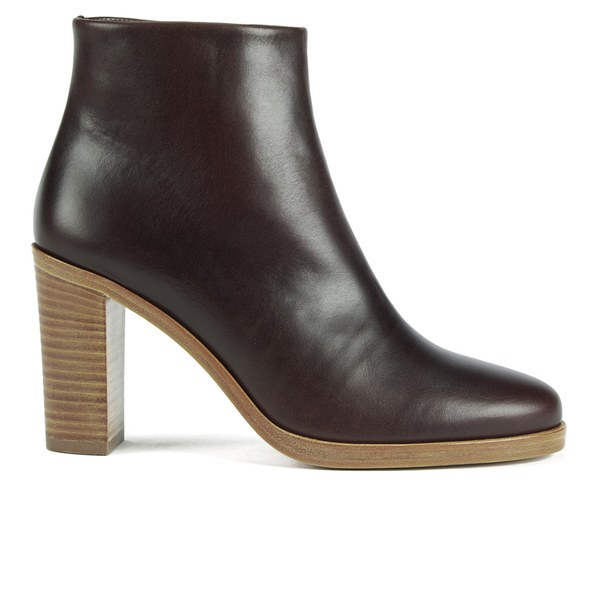 A.P.C. Women s Rachel Leather Heeled Ankle Boots - Dark Brown - Free ... d795e5a6c1