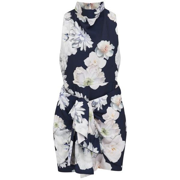 Finders Keepers Women's Earthly Treasures Dress - Digital Floral Navy:  Image 1