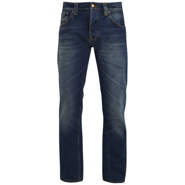 Nudie Jeans Men's Steady Eddie Straight Denim Jeans - Old Sea