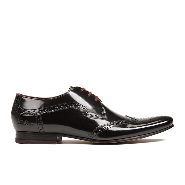 e1befcee259ab5 Ted Baker Men s Hamniy High Shine Leather Brogues - Black  Image 1